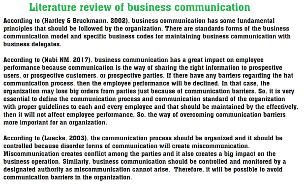 Overview of Business Communication