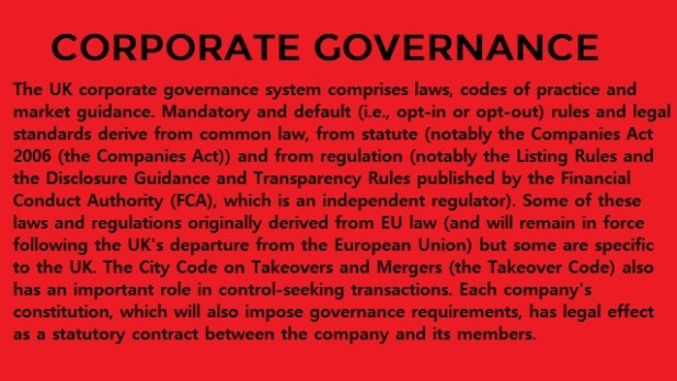 Corporate Governance and Corporate Performance