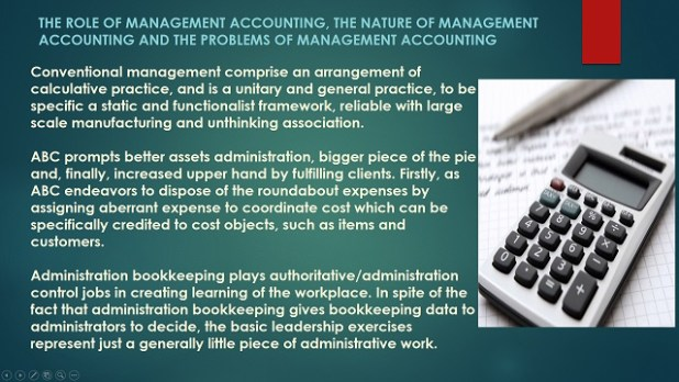 Role of Management Accounting