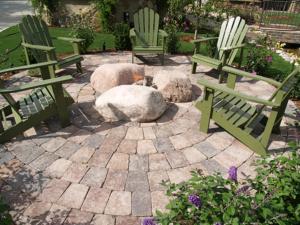 patio pavers and wall block circle b