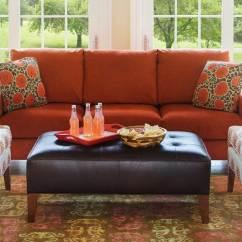 Orange Sofa Bed Padstow 2 Seater Circle Furniture Del Ray Ottoman Ottomans Boston