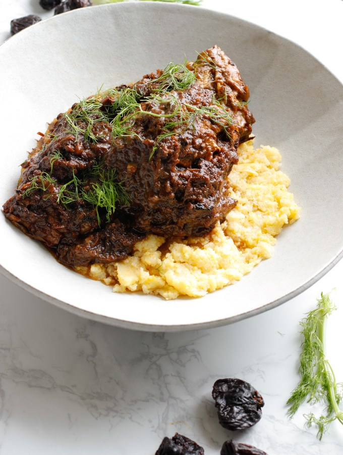 Mediterranean Short Ribs with Polenta