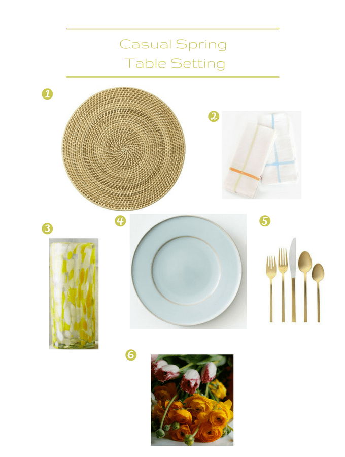 Casual Spring Table Setting - Perfect for Mother's Day