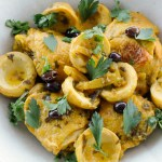 Moroccan Chicken with Artichokes, Olives and Preserved Lemons   circleofeaters.com