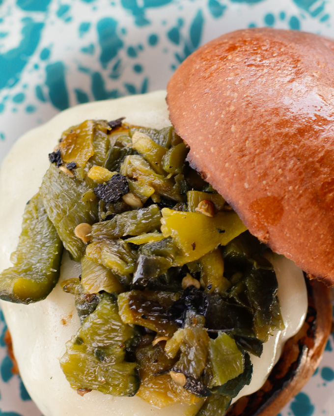 Hatch Burger - A juicy and flavorful take on the classic burger   CircleofEaters.com