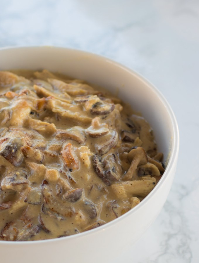 Five-Ingredient Creamy Mushroom Chicken with Cashew Cream