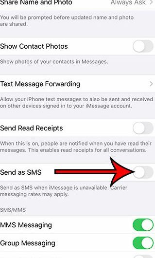 What does sent as text message mean