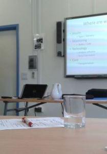 Dr Iain Cranston gives a talk