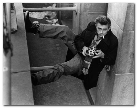 James Dean with Rollei