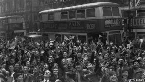 Londoners Celebrate VE-Day