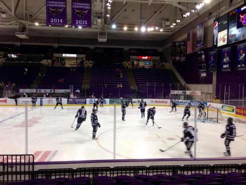 MSU Mavs during warmups