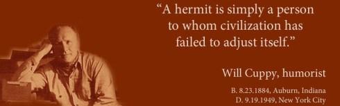 Cuppy Hermit Quote