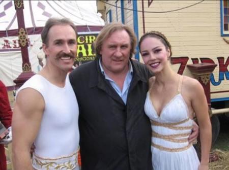 VIPS en el Circo Raluy. Gerar Depardieu