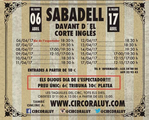 Circo Raluy en Sabadell