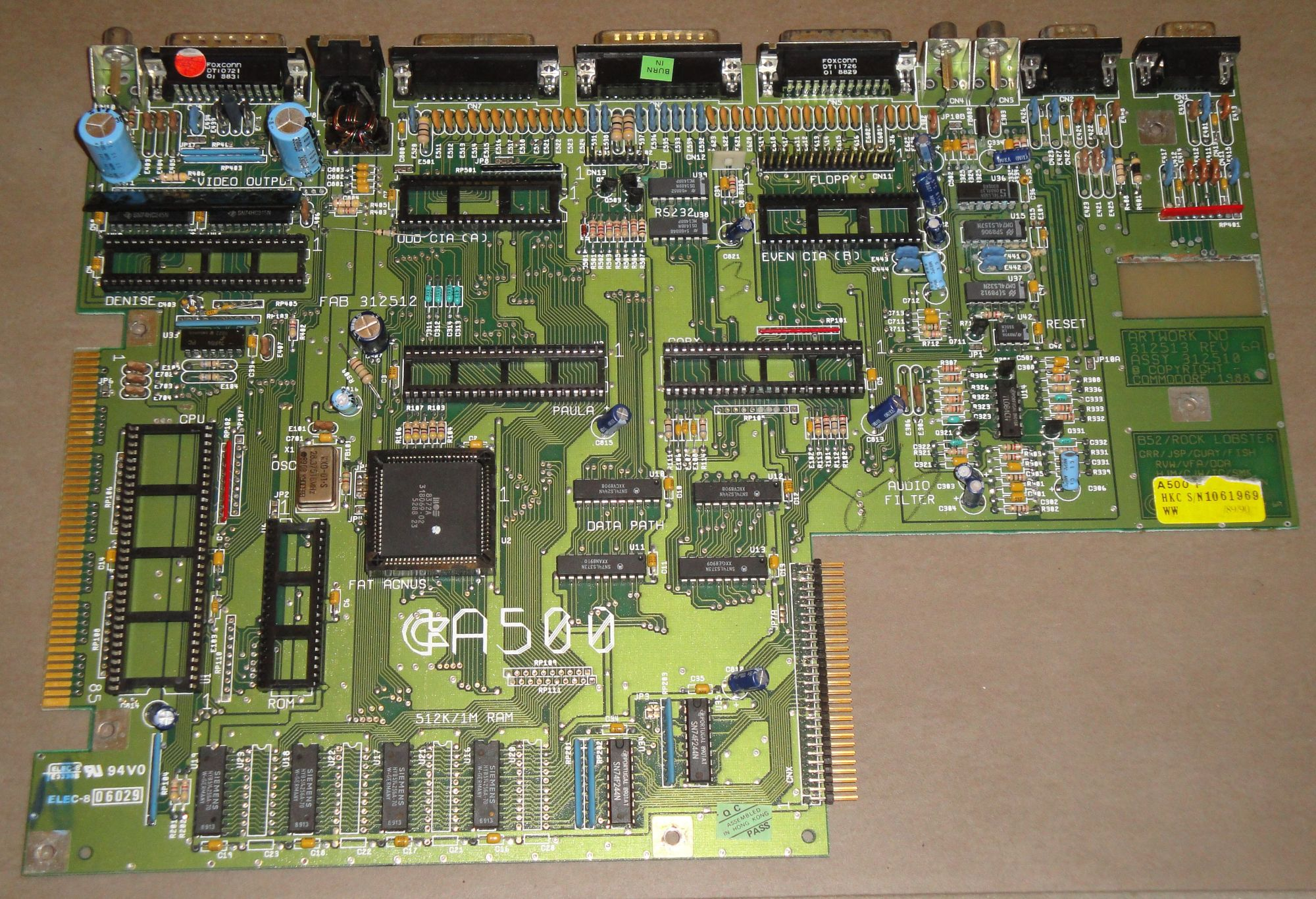 Amiga 500 Problem Home Computer Pc Circuitboard