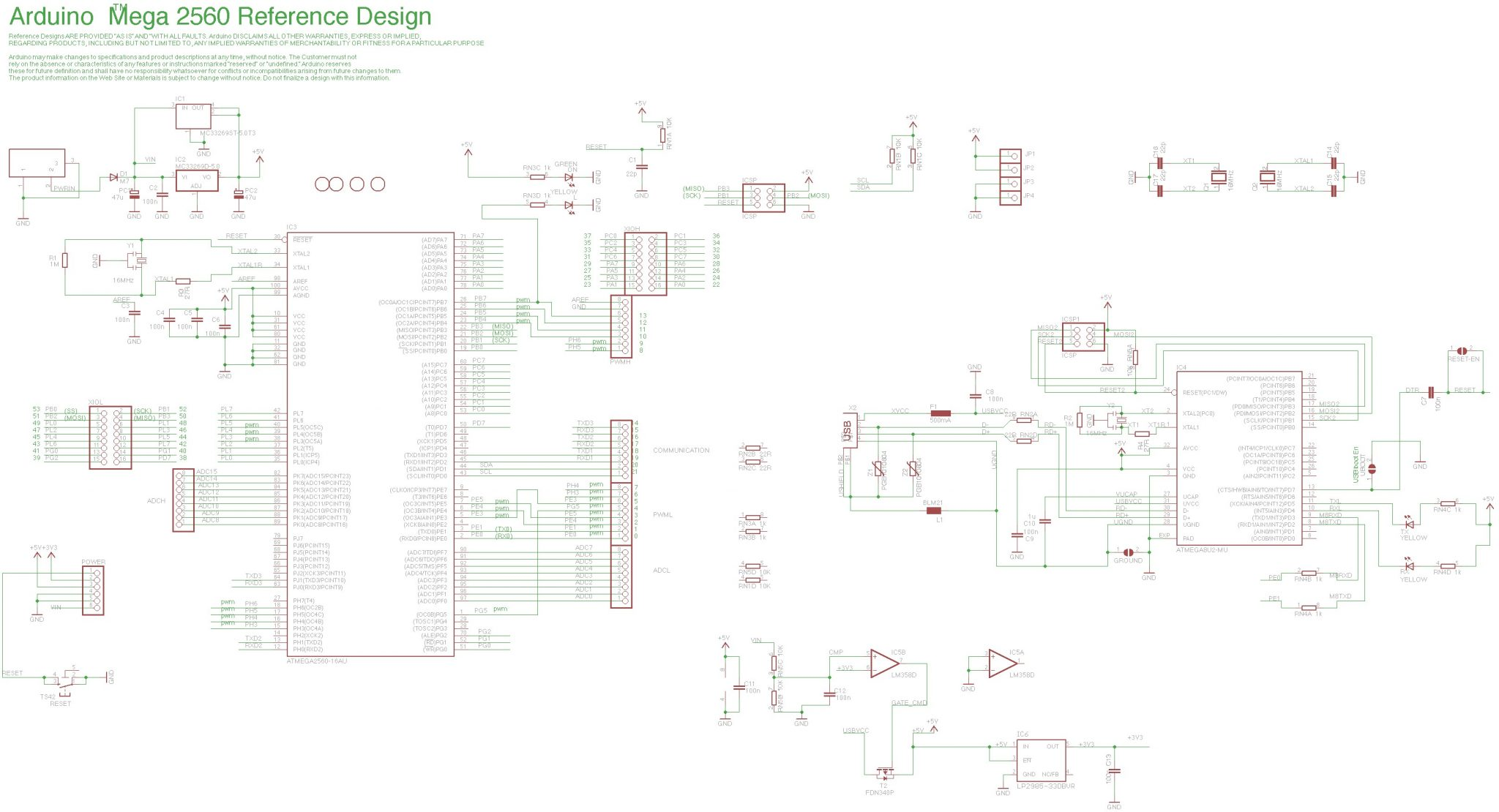 Arduino Mega 2560 Circuit Diagram