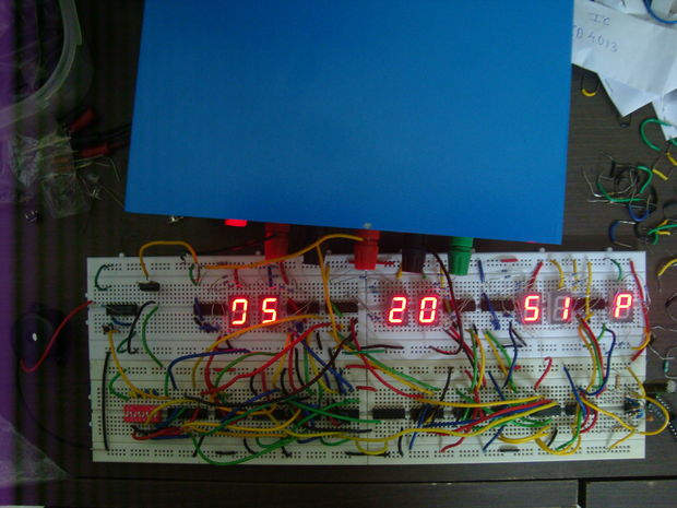 Digital Clock Circuit Diagram On Digital Counter Circuit Schematic