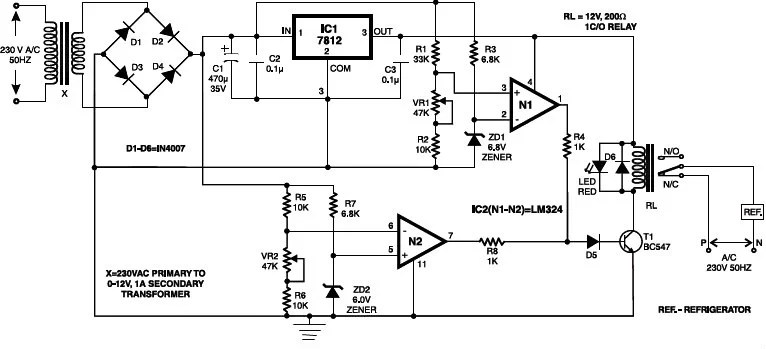 Electrical Appliances Over / Under Volt Protection Circuit