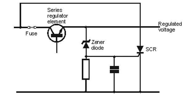 overvoltage crowbar circuit