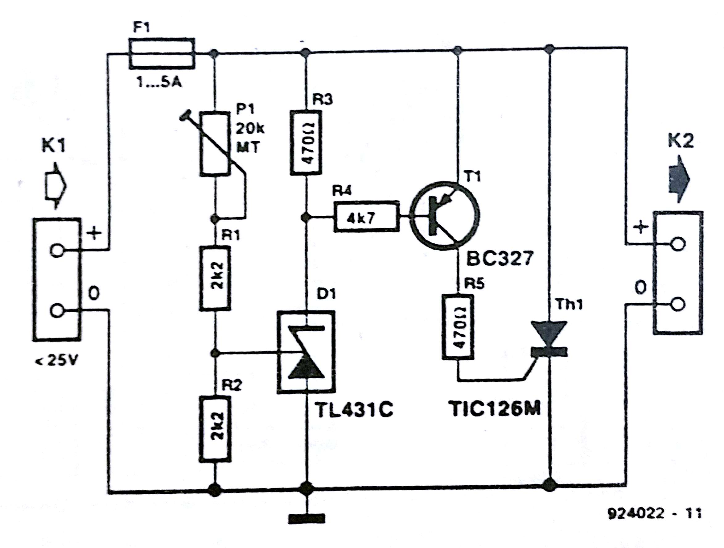 Crowbar Over Voltage Protection Circuit Diagram