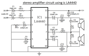 LA4440 IC Amplifier Circuit Diagram