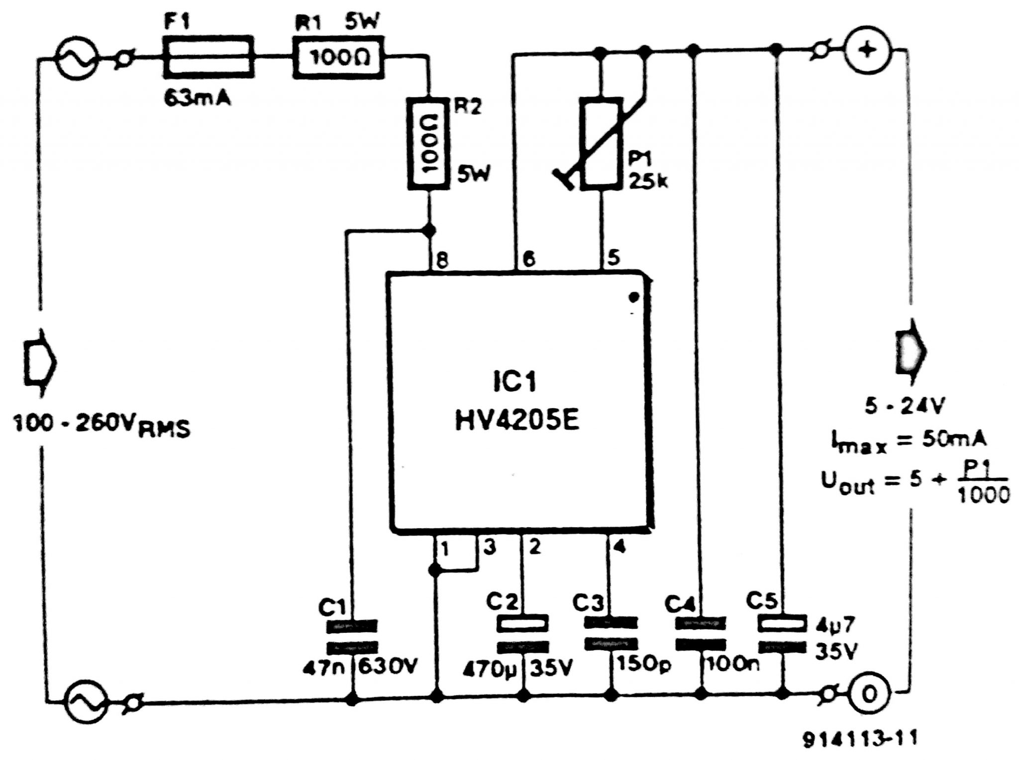 Circuit Diagram of Low-Voltage Power Inverter AC-DC