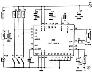 Solid State Audio Recorder Circuit Diagram