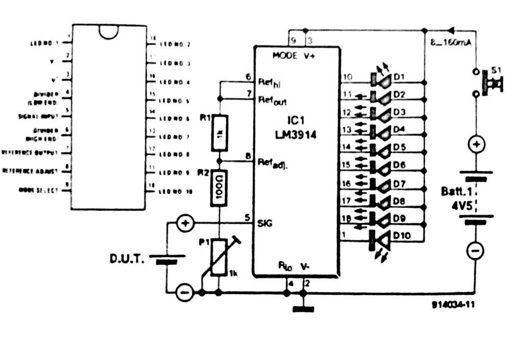 Battery Tester Circuit Diagram