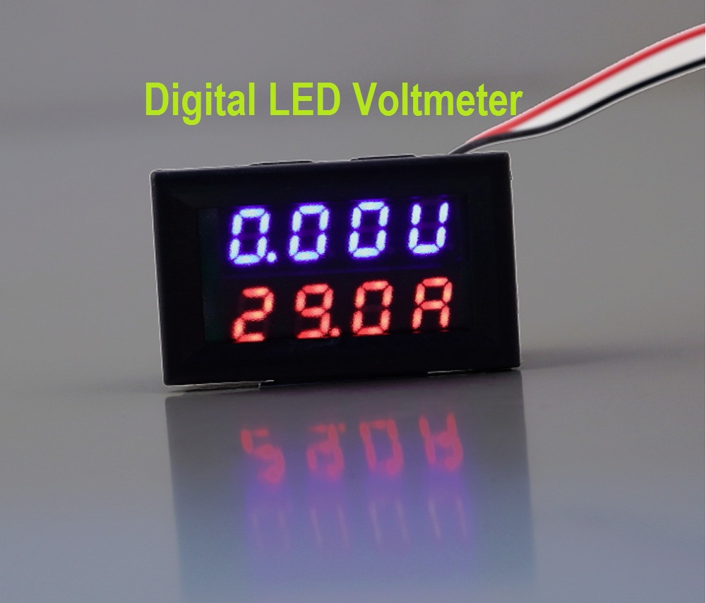 Digital LED Voltmeter Circuit Diagram