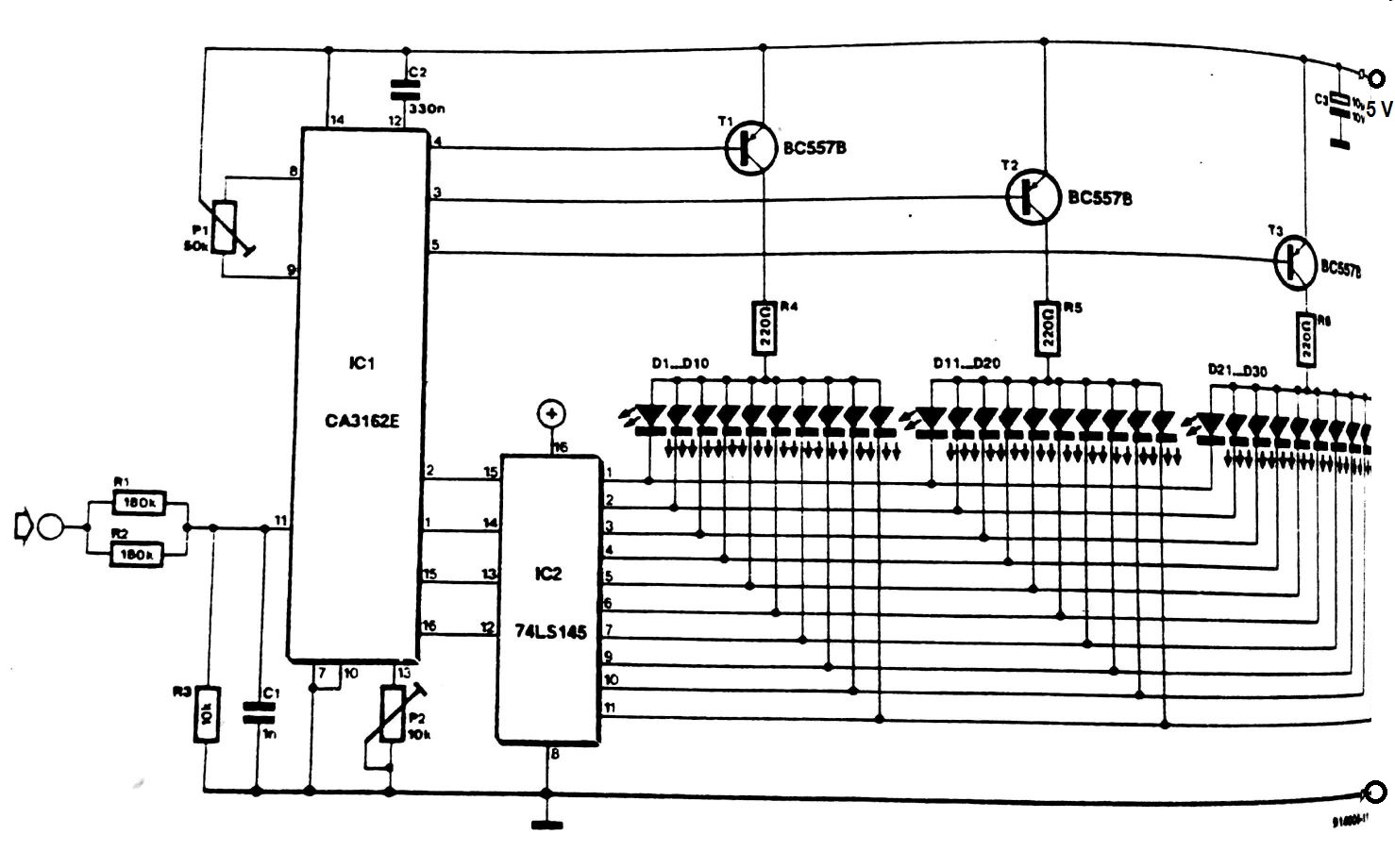 digital voltmeter wiring diagram 1998 jeep grand cherokee infinity stereo led circuit
