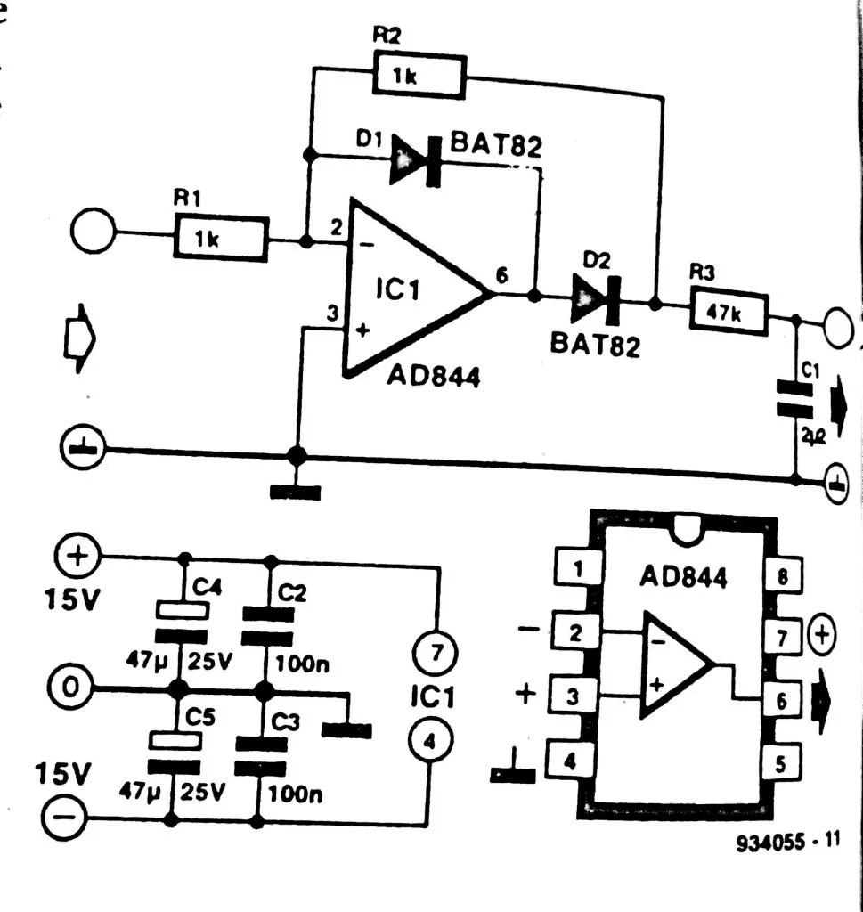 Fast Active Rectifier Circuit Diagram