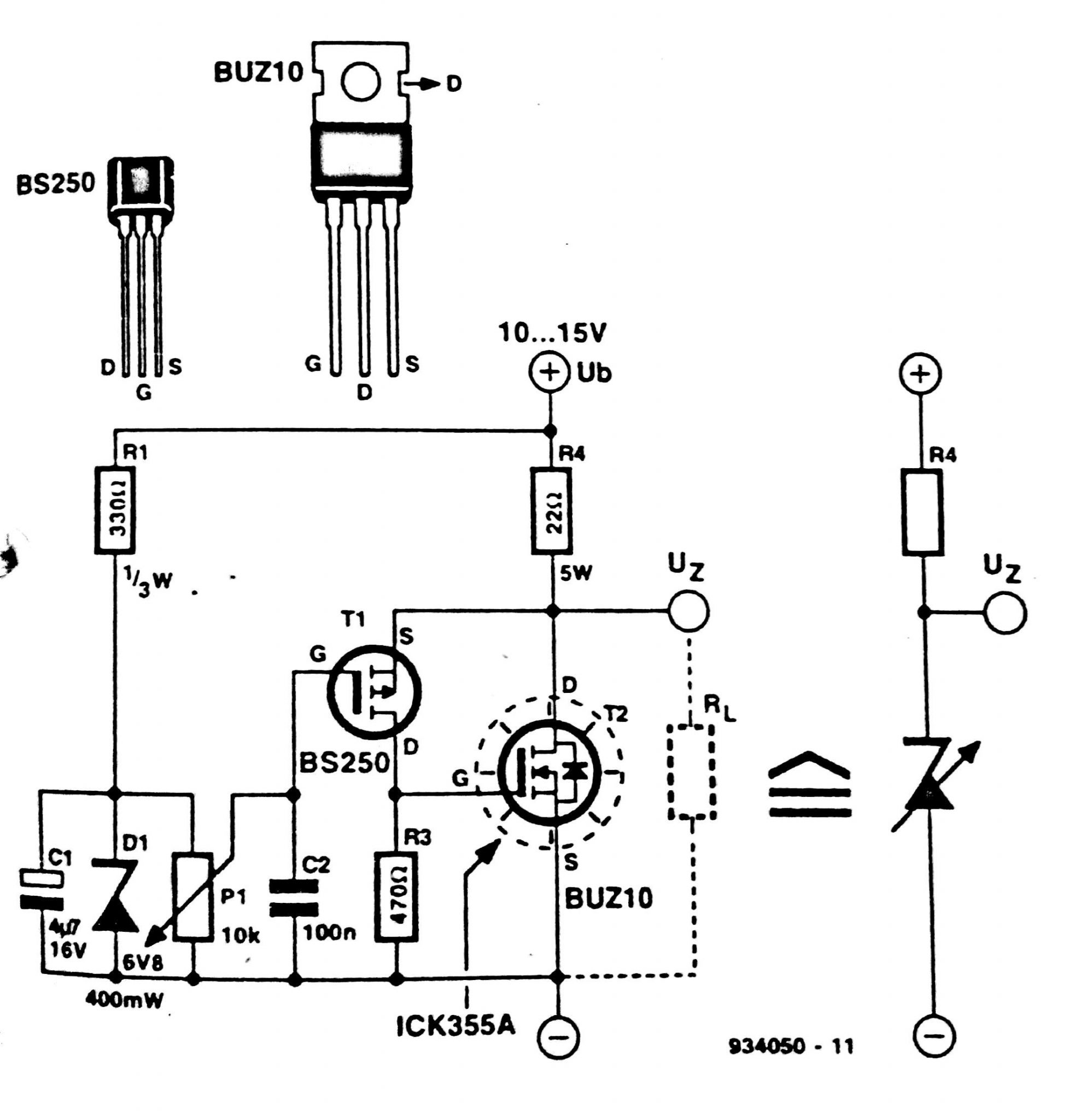 Zener Diode Circuit Diagram