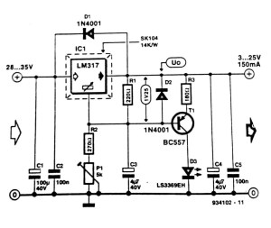Regulator Short Circuit Indicator Circuit Diagram
