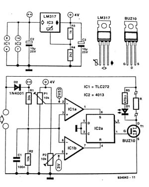 Solar Panel Shunt Regulator Circuit Diagram