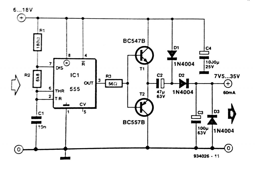 circuit diagram of timer using 555 ic