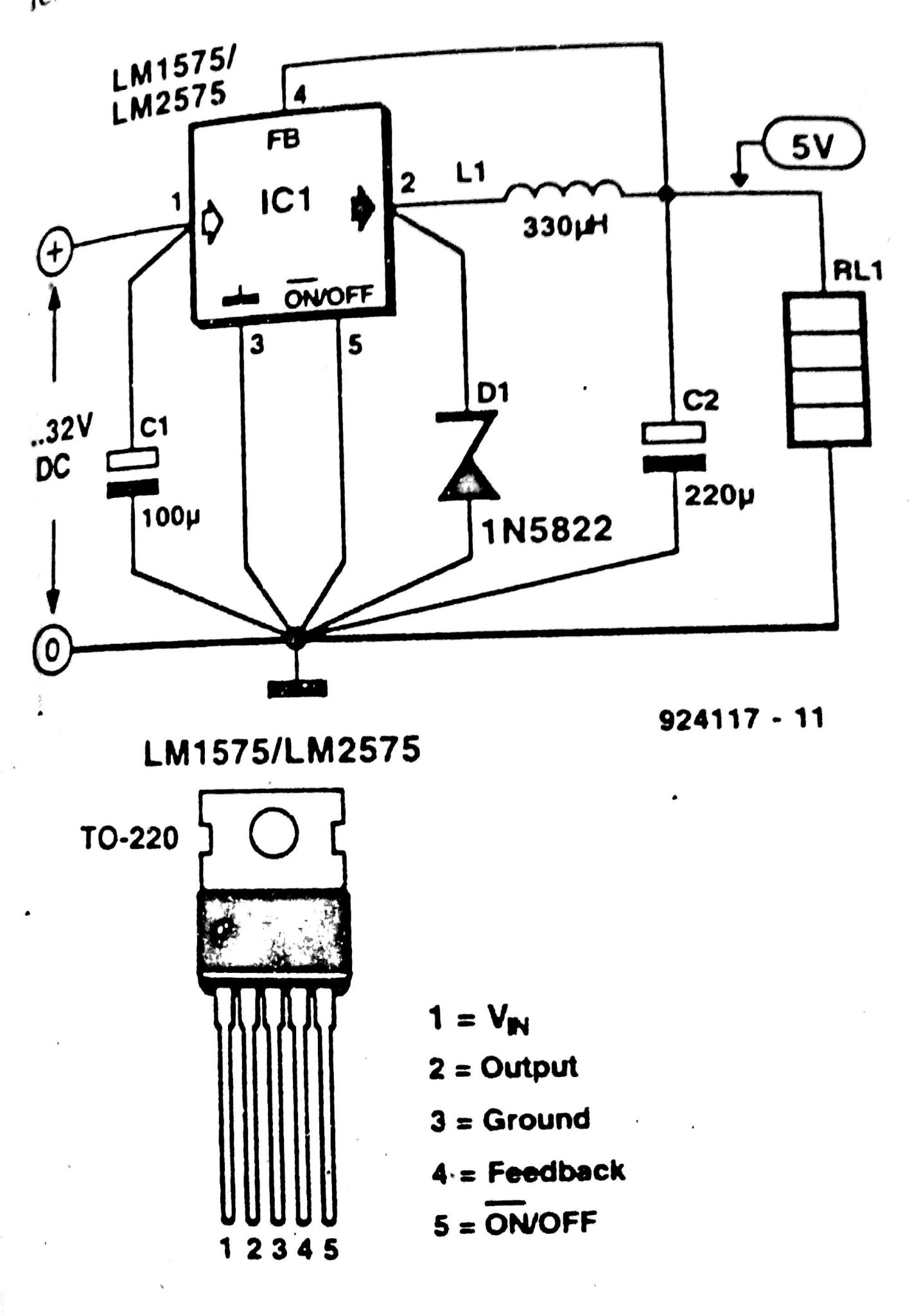 Switched Power Supply using LM2575 or LM1575