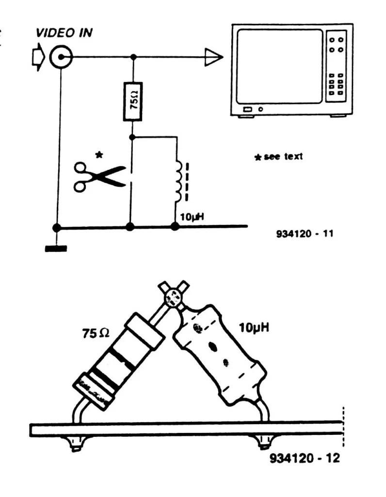 Inexpensive Video Enhancer Circuit Diagram