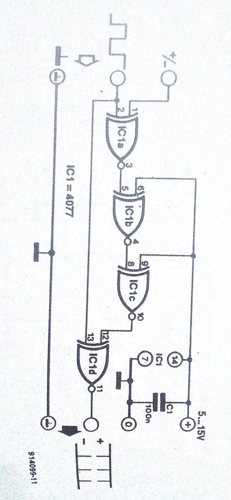 circuit diagram of a blinker circuit