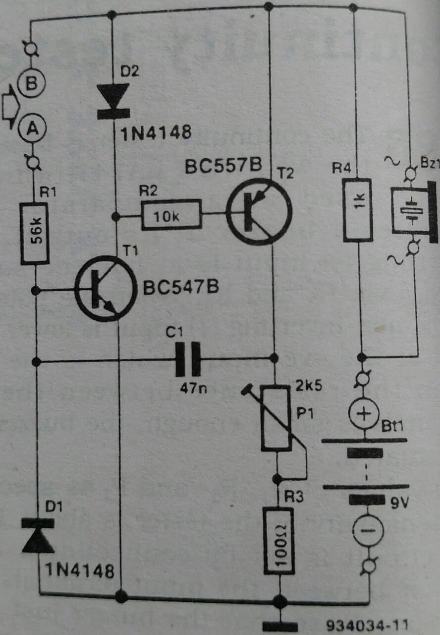 Society Audible Continuity Tester Electronic Circuit Schematic