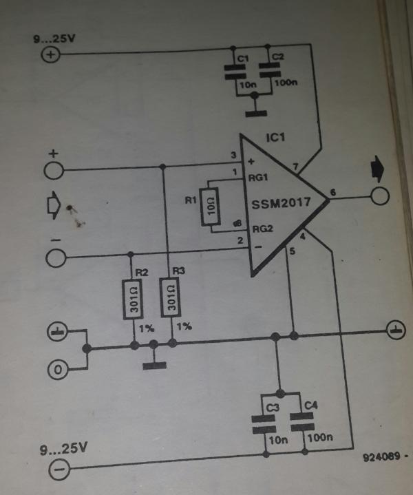 Circuit Diagram Amplifier Circuit Low Voltage High Input Impedance