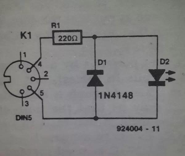 MIDI (cable) tester