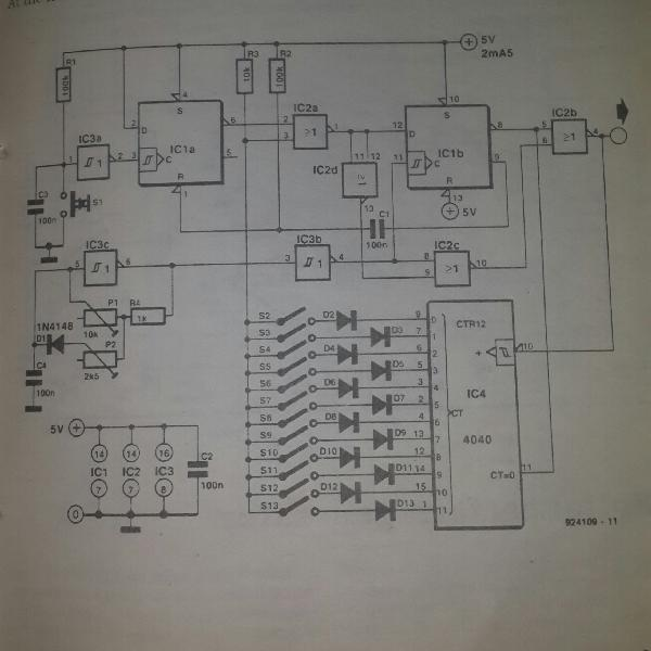 Pulse Generator Circuit With Logic Gate Schematic Diagram