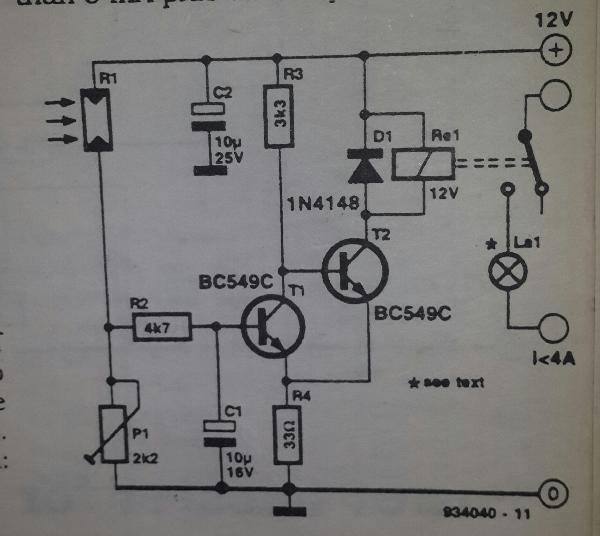 Automatic Light Switch Circuit Schematic