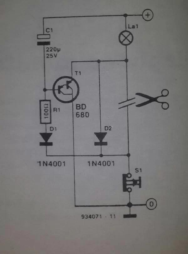 Car Interior Lights Delay Circuit Diagram