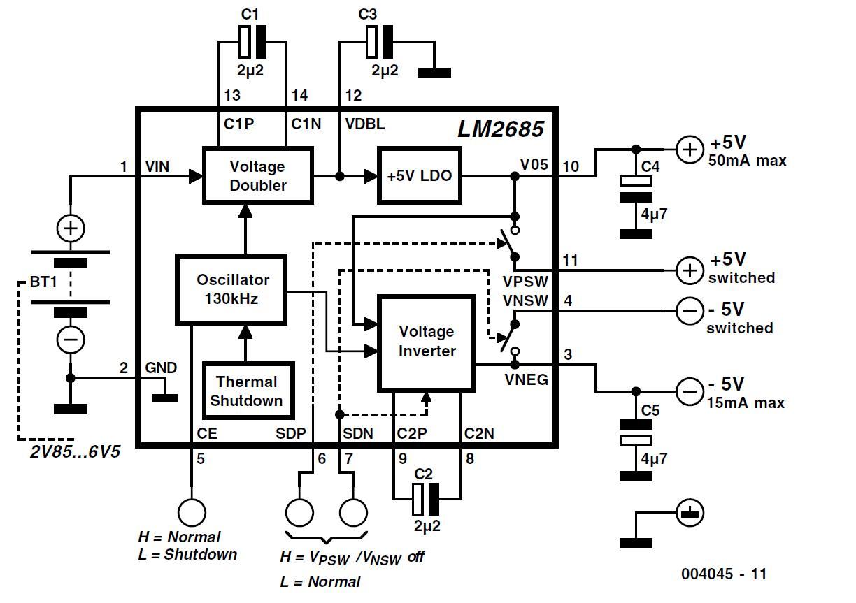 5 V Voltage Converter Schematic Circuit Diagram