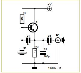 Crystal Tester Schematic Circuit Diagram