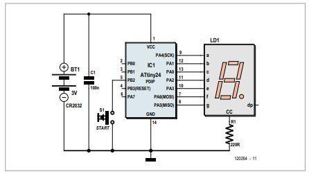 Economical 7-segment Display Schematic Diagram