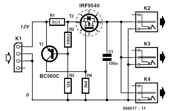 PC 12-V Adapter Schematic Circuit Diagram