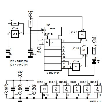 Random Flashing LED Schematic Diagram