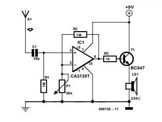 Wire Tracer (Receiver) Schematic Diagram